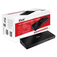 Club3D Dokovací stanice USB 3.2 typ C Universal Triple 4K (5xUSB/USB-C/3xHDMI/2xDP/Ethernet/Audio) s napájecím adaptérem