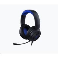 RAZER herní sluchátka Kraken X pro konzole, modro-černé, 3.5 mm jack
