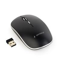 GEMBIRD myš MUSW-4B-01, černá, bezdrátová, USB nano receiver