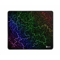 C-TECH Herní podložka pod myš C-TECH ANTHEA ARC, barevná, pro gaming, 320x270x4mm, obšité okraje