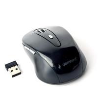 GEMBIRD myš MUSW-6B-01, černá, bezdrátová, USB nano receiver