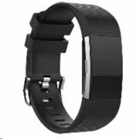 eses silikonový řemínek černý velikost S pro Fitbit Charge 2
