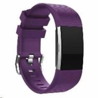 eses silikonový řemínek fialový velikost S pro Fitbit Charge 2