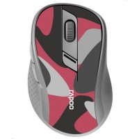 RAPOO myš M500 Silent Multi-mode Wireless Optical Mouse, Red