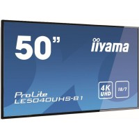 Iiyama monitor ProLite LE5040UHS-B1, 126 cm (50''), 4K, RS232, Ethernet, audio, DVI, VGA, HDMI