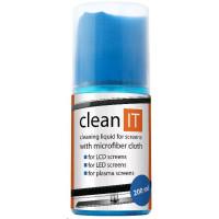 CLEAN IT Čistící roztok na obrazovky 200ml s utěrkou ve víčku
