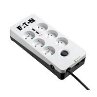Eaton Protection Box 6 Tel@ USB FR, přepěťová ochrana, 6 zásuvek, 2x USB nabíječka, 1m