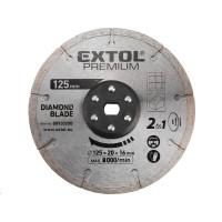 Extol Premium (8893020B) kotouc řezný, diamantový, 125x20mm, pro 8893020
