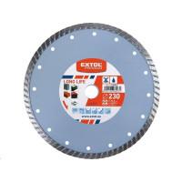 Extol Premium (108955) kotouč diamantový řezný turbo Long Life, 230x22,2mm, suché i mokré řezání