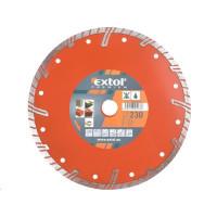 Extol Premium (8803035) kotouč diamantový řezný turbo plus, 230x22,2mm, suché i mokré řezání