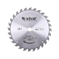 Extol Premium (8803250) kotouč pilový s SK plátky, 350x2,5x30mm, 28T