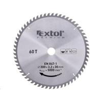Extol Premium (8803247) kotouč pilový s SK plátky, 300x2,2x30mm, 60T, šířka SK plátků 3,2mm, SK