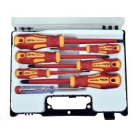 Extol Premium (53087) šroubováky elektrikářské se zkoušečkou, sada 7ks, 3x(-),3x(PH), CrV