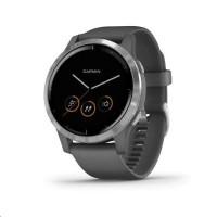 Garmin monitorovací náramek a hodinky vívoactive4 Silver/Gray Band