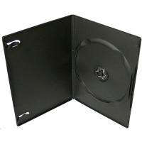 PP box 1DVD čierny slim (9mm) 100 ks/bal