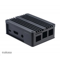 AKASA krabička pro Raspberry Pi 3 a Asus Tinker/S, Extended Aluminium, with Thermal Modules (SD Slot concealed)