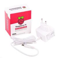 Raspberry Pi USB-C 5,1V 3A napájecí zdroj, EU, bílý