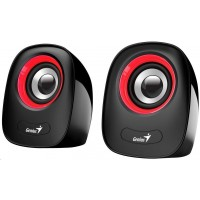 """GENIUS repro SP-Q160 Red, 2.0, 6W, USB napájení, 3,5"""" jack, černo-červené"""