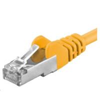 PREMIUMCORD Patch kabel CAT 6a S-FTP, RJ45-RJ45, AWG 26/7 0,25m žlutá