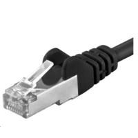 PREMIUMCORD Patch kabel CAT6a S-FTP, RJ45-RJ45, AWG 26/7 0,25m černá