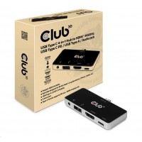 Club3D Multiport USB-C 3.1 na 3x HDMI 2.0b + 1 USB 2.0 + USB-C charge (100W) + audio jack female