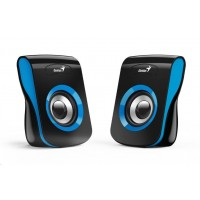 """GENIUS repro SP-Q180 Blue, 2.0, 6W, USB napájení, 3,5"""" jack, černo-modré"""