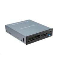 AKASA přední panel + multi čtečka paměťových karet, interní, USB 3.1