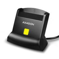 AXAGON CRE-SM2, USB externá čítačka 4-slot Smart card / ID card (eID) + SD / microSD / SIM