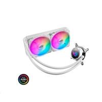 ASUS vodní chladič CPU AIO ROG STRIX LC 240 RGB White Edition, 2x120mm