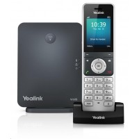 """Yealink W60P IP DECT báze+ručka, 2,4"""" 240x320 barevný LCD, PoE, až 8 ruček"""