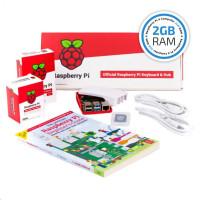 Raspberry Pi 4B/2GB Desktop Kit, malinový/bílý