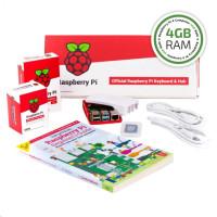 Raspberry Pi 4B/4GB Desktop Kit, malinový/bílý