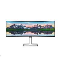 "Philips MT VA LED 48,8"" 498P9/00 - VA panel, 5120x1440, 2xHDMI, DP, USB, repro, nast vyska, zakriven"