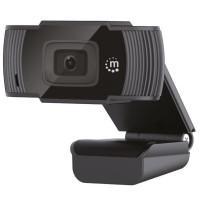 MANHATTAN Kamera Webcam 1080p, 2 mpx, USB-A Plug