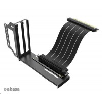 AKASA RISER BLACK PRO, Vertical GPU Holder + Premium PCIe 3.0 Riser cable