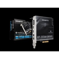 GIGABYTE GC-TITAN RIDGE 2.0, Intel® Thunderbolt™ 3 Certified add-in card, USB Type-C, DisplayPort