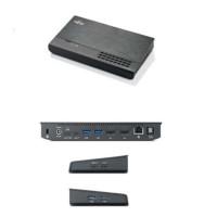 FUJITSU portreplikator PR09 USB-C - RJ45 WOL 2xDP 4xUSB3.1+3xUSB-C - AC/DC Adapter 20V, 120W, EU-power cord, 1,8m
