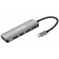 Sandberg dokovací stanice USB-C -> HDMI + 3x USB + PD 100W
