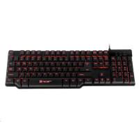 TRACER klávesnice GAMEZONE Mecano, herní, drátová, USB, černá, LED podsvícení
