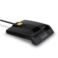 AXAGON CRE-SM3, USB externí FlatReader čtečka kontaktních karet Smart card (eObčanka)