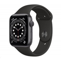 Apple Watch Series 6 GPS, 40mm vesmírně šedé hliníkové pouzdro + černý sport řemínek