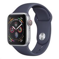 COTEetCI silikonový sportovní náramek pro Apple watch 38 / 40 mm půlnoční modrá