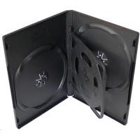 PP box  4DVD čierny* rozmer 190x135x17mm