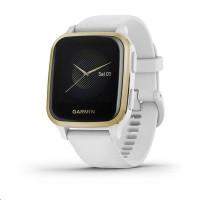 Garmin GPS sportovní hodinky Venu Sq, LightGold/White Band
