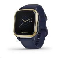 Garmin GPS sportovní hodinky Venu Sq Music, LightGold/Blue Band