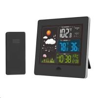 Solight TE80 meteostanice, barevný LCD, teplota, vlhkost,RCC, černá