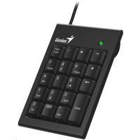 GENIUS klávesnice NumPad 100/ Drátová/ USB/ slim design/ černá