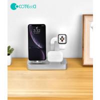 COTEetCI nabíjecí stanice Base29 3v1 pro Apple iPhone & Watch & AirPods/Pro zelená