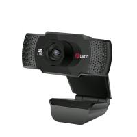 C-TECH webkamera CAM-11FHD, 1080P full HD, mikrofon, černá