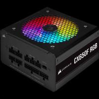 CORSAIR zdroj, CX650F 80+ Bronze modulární RGB, 120mm ventilátor (ATX, 650W), černá